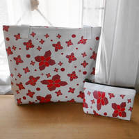 Husk Muty Flower Tote Bag Tas Wanita-Putih Tulang